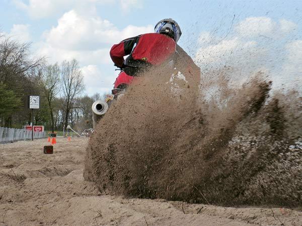 Crossing through sand