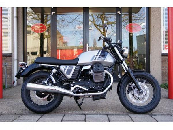A grey and dark grey motorcycle