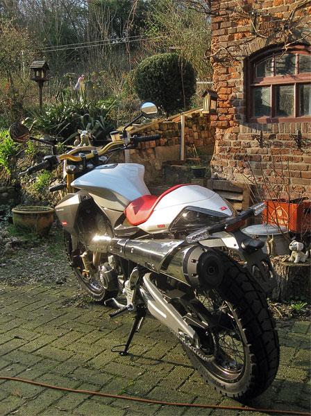 Shiny new motorcycle