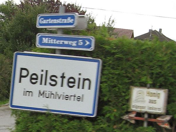 Sign: Peilstein