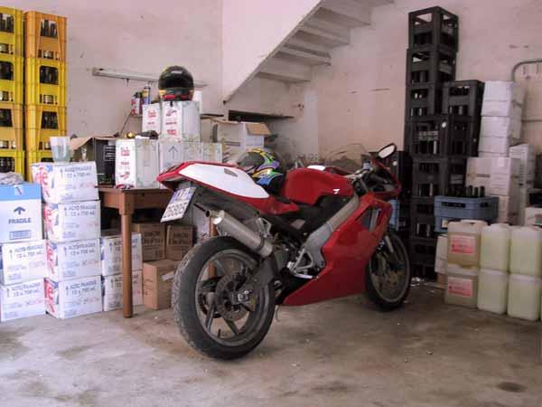 Cagiva Mito in garage